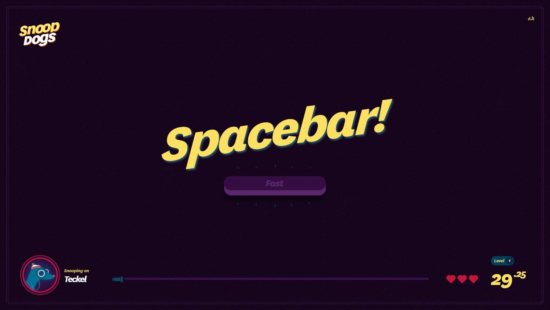 Snoop Dogs Game Spacebar Screenshot.