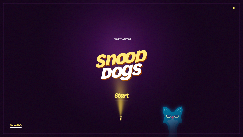 Snoop Dogs Game Welcome Screen Screenshot.