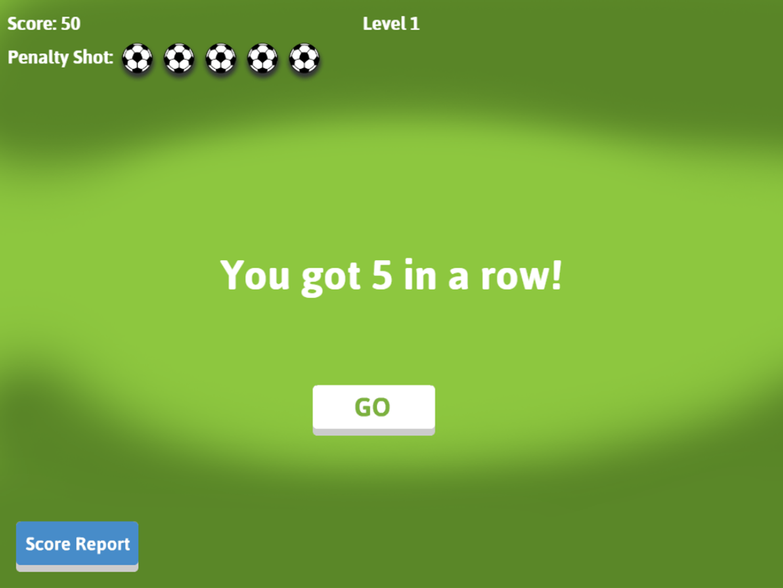 Soccer Math Rounding Game Result Screenshot.