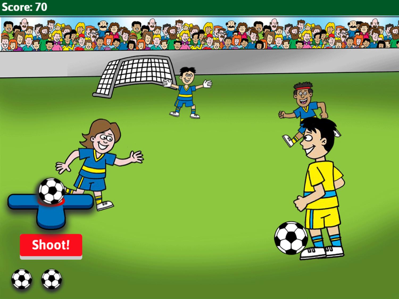 Soccer Math Rounding Game Soccer Play Screenshot.