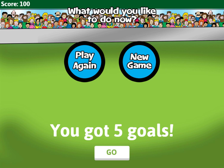 Soccer Math Rounding Game Total Goals Screenshot.