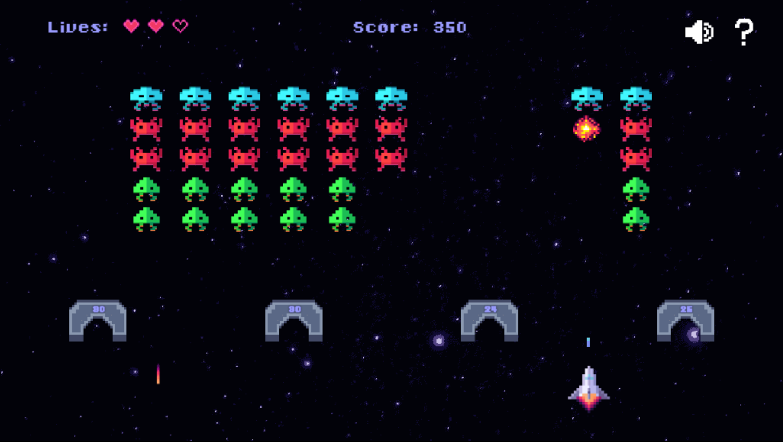Space Alien Invaders Game Screenshot.