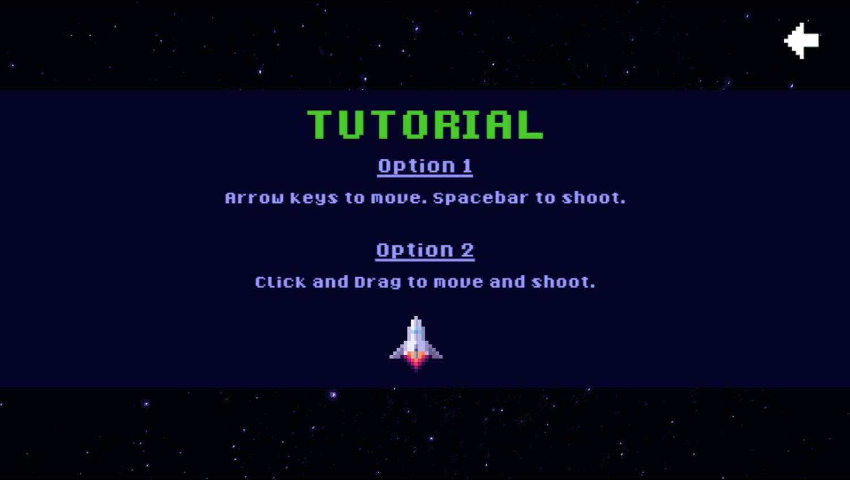 Space Alien Invaders Game Tutorial Screenshot.