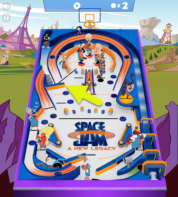 Space Jam Full Court Pinball Multiball Screenshot.