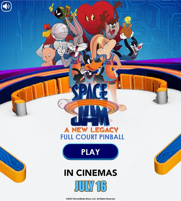 Space Jam Full Court Pinball Welcome Screen Screenshot.