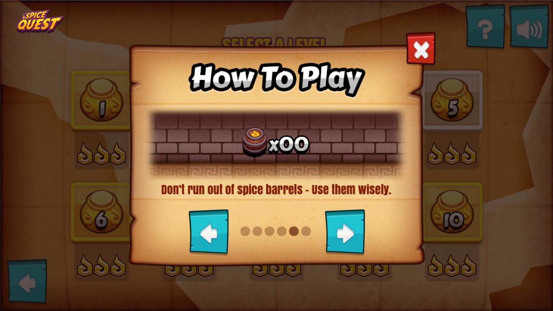 Spice Quest Game Barrel Limit Screenshot.