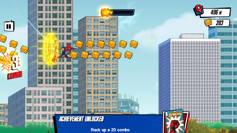 Spider Man Mysterio Rush Game Screenshot.