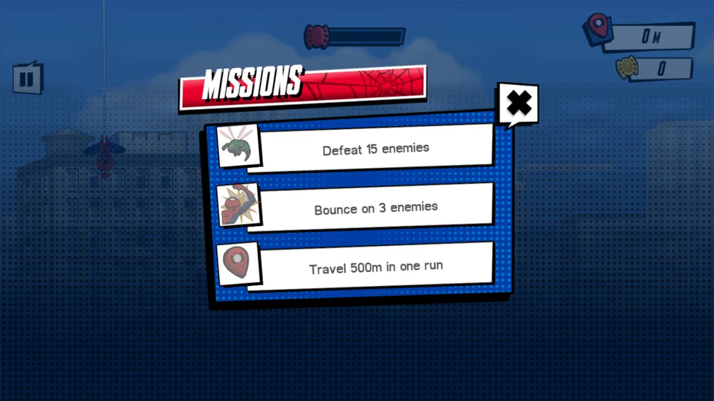 Spider Man Mysterio Rush Missions Screenshot.