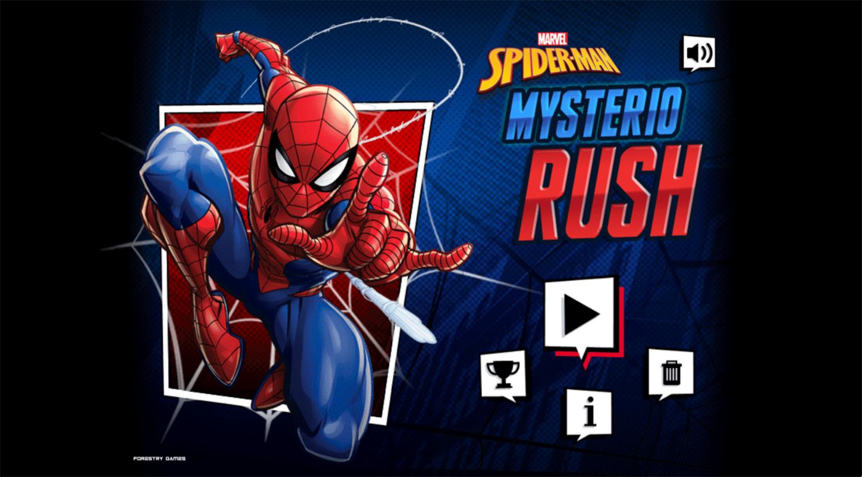 Spider Man Mysterio Rush Welcome Screen Screenshot.