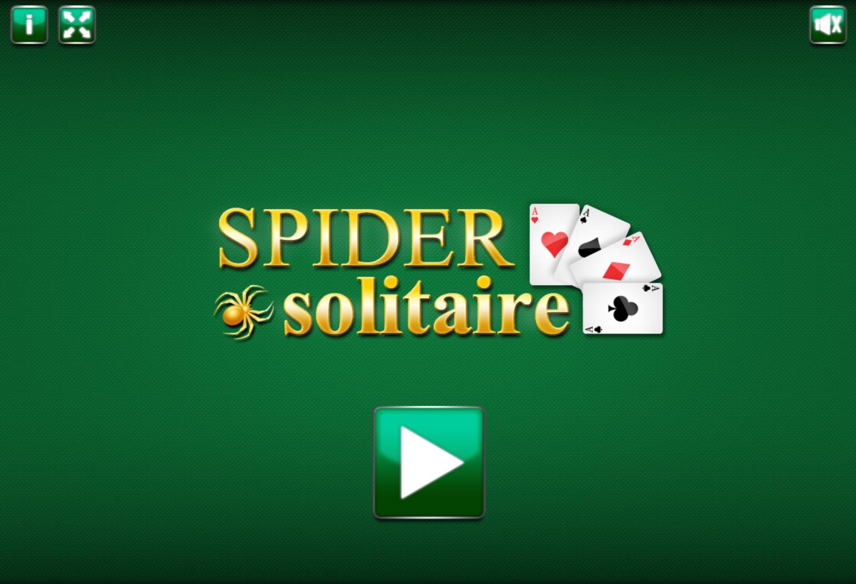 Spider Solitaire Start Screen Screenshot.