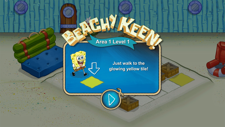 Spongebob Squarepants Beachy Keen Instructions Screenshots.