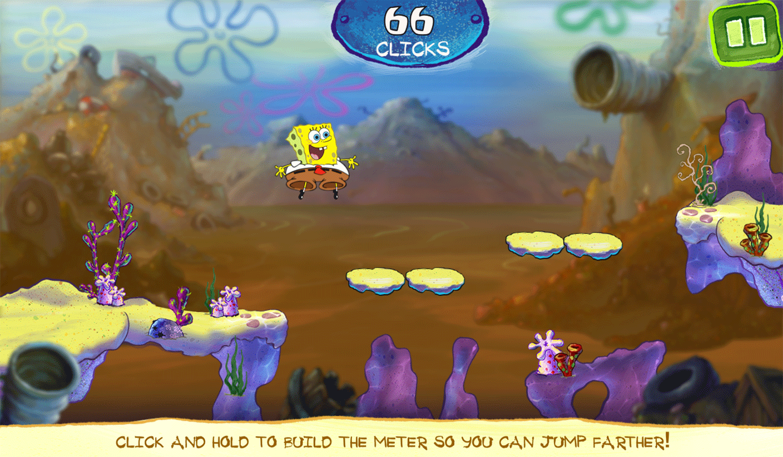 Spongebob Squarepants Bikini Bottom Button Bash 3rd Stage Screenshot.