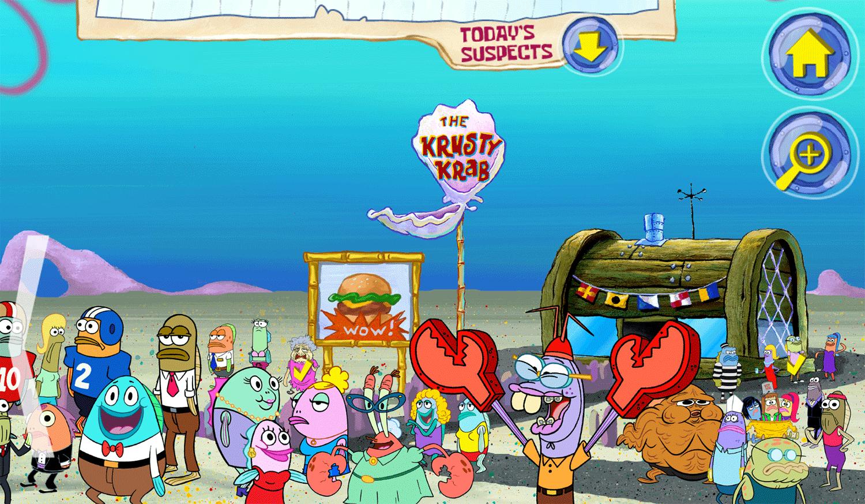 Spongebob Squarepants Bikini Bottom Mysteries Game Screenshot.