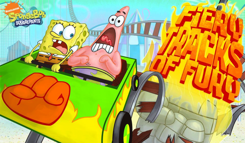 Spongebob Squarepants Fiery Tracks of Fury Welcome Screen Screenshot.