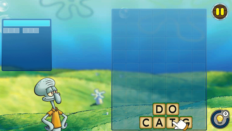 Spongebob Squarepants Word Blocks How To Play Screenshot.