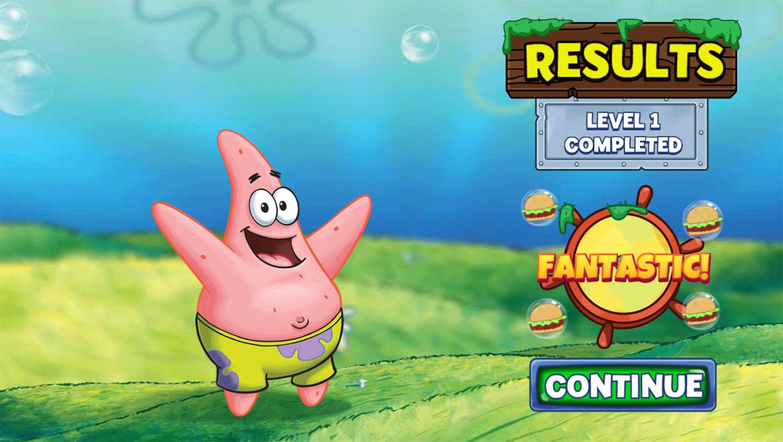 Spongebob Squarepants Word Blocks Results Screenshot.