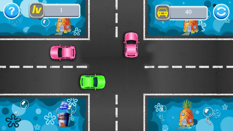 SpongeBob Traffic Control Game Play Screenshot.