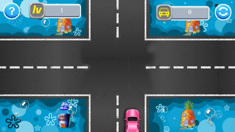 SpongeBob Traffic Control Game Start Screenshot.