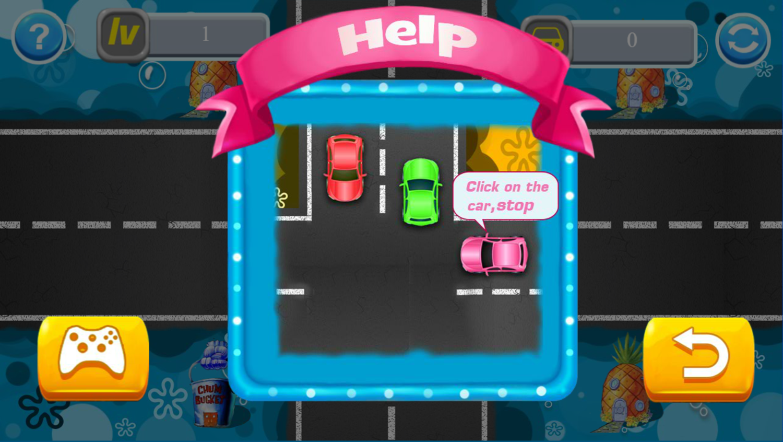 SpongeBob Traffic Control Game How To Play Screenshot.