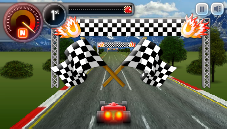 Sprint Club Nitro Game Race Finish Line Screenshot.