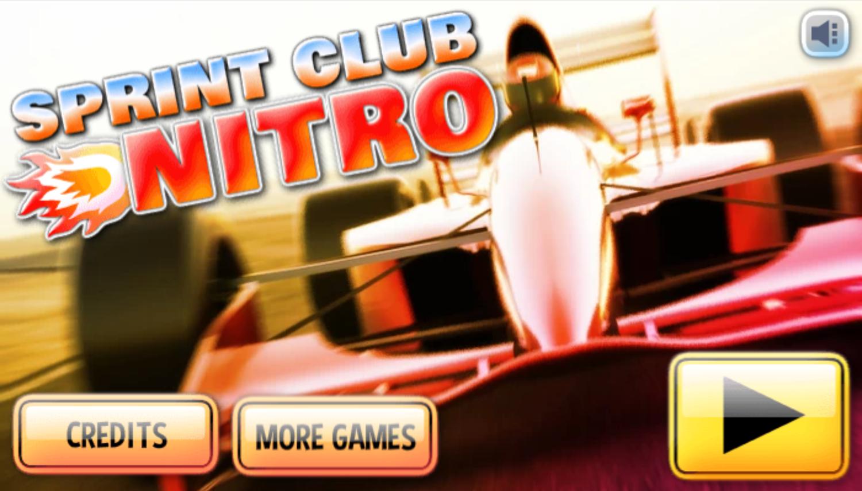 Sprint Club Nitro Game Welcome Screen Screenshot.
