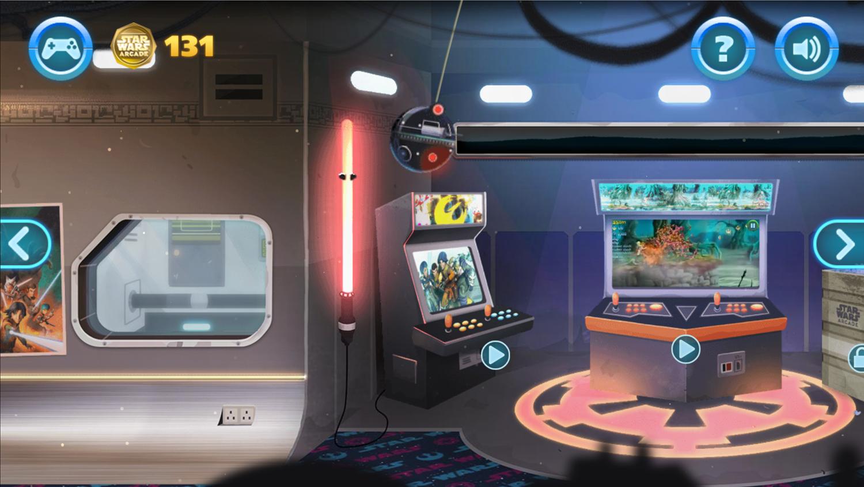 Star Wars Arcade Game Screenshot.