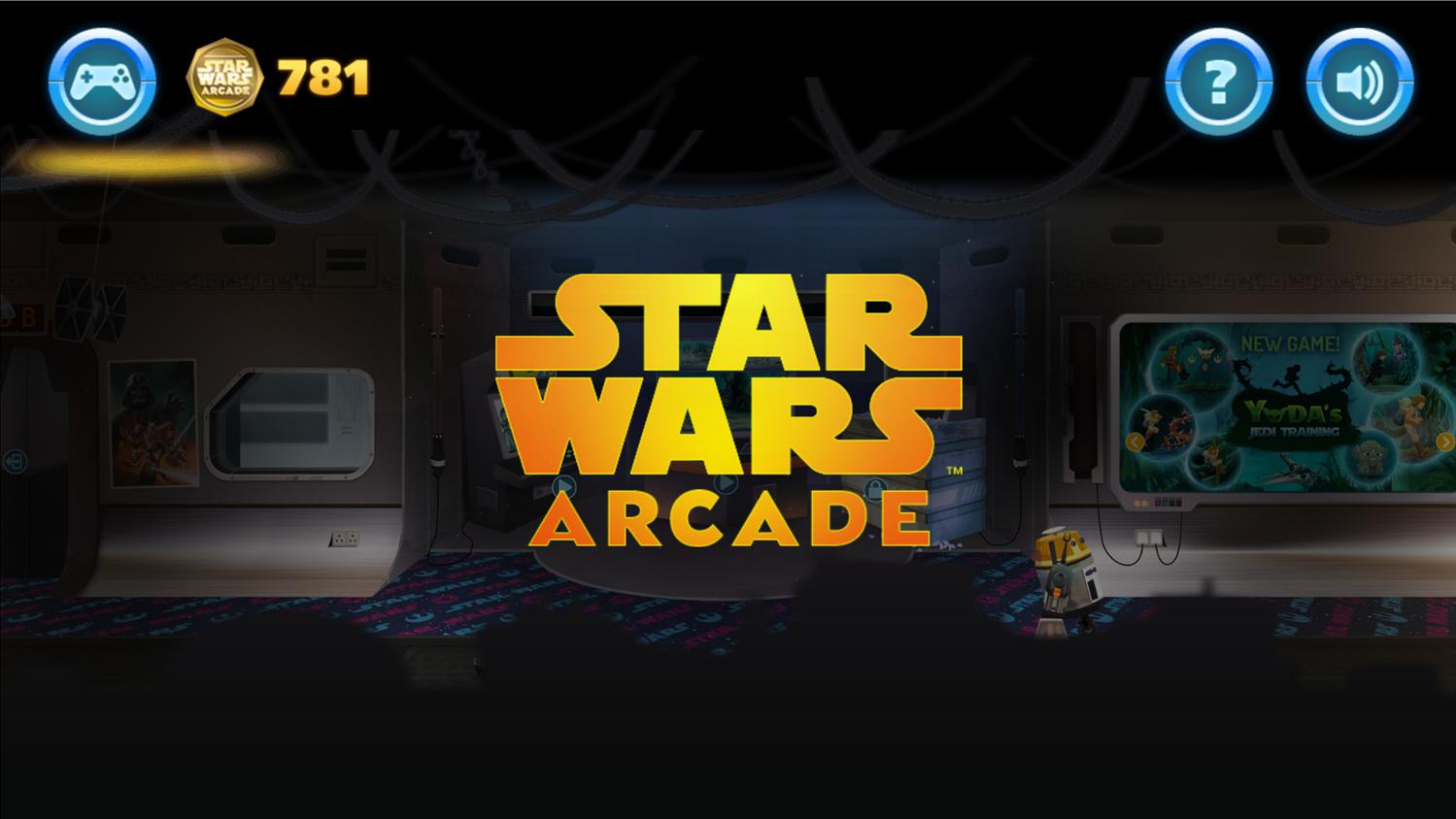 Star Wars Arcade Welcome Screen Screenshot.