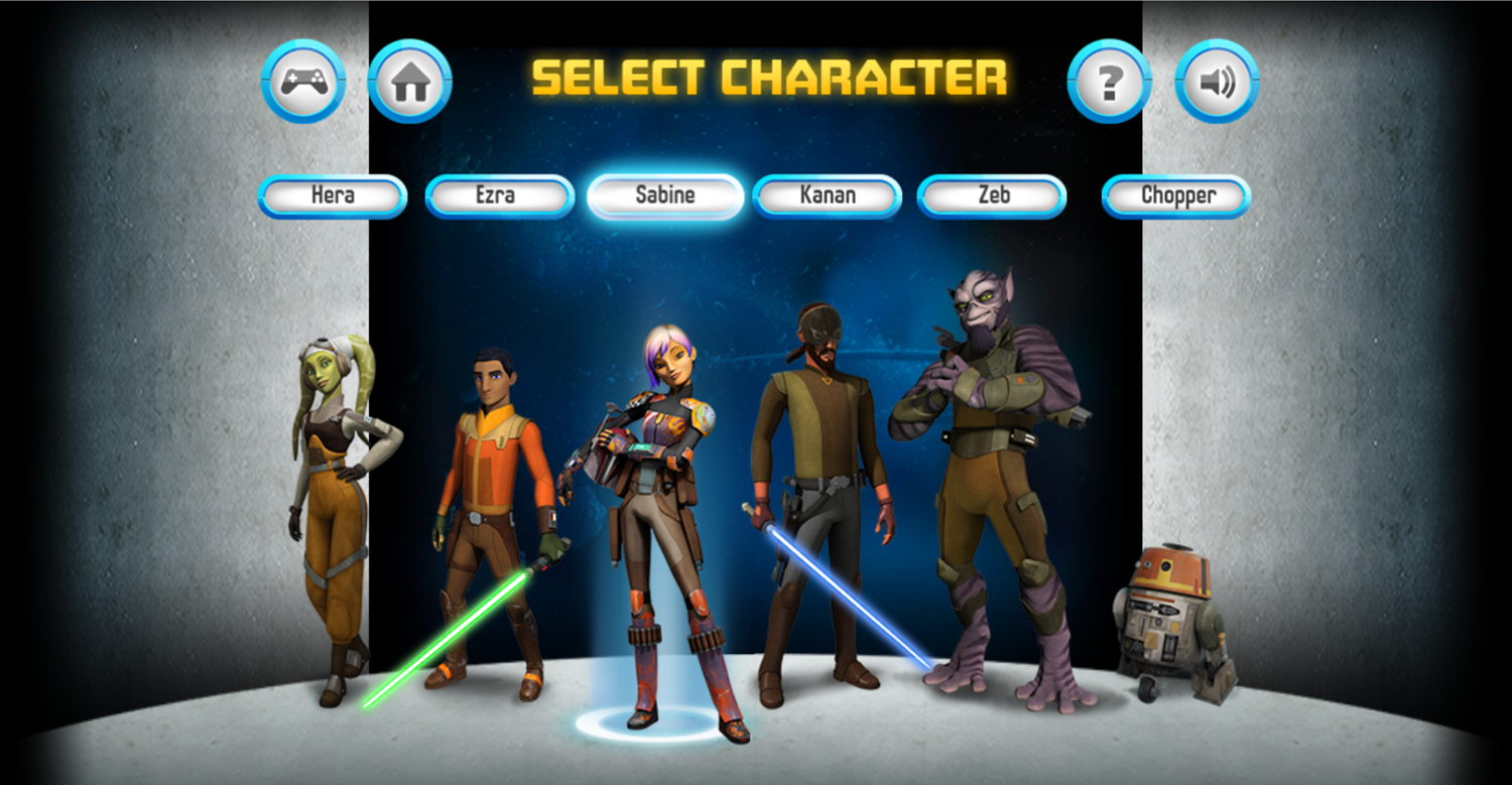 Star Wars Rebels Special Ops Character Select.