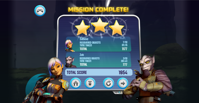 Star Wars Rebels Special Ops Level Beat Screenshot.