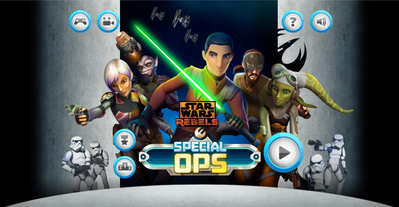 Star Wars Rebels Special Ops Welcome Screen Screenshot.