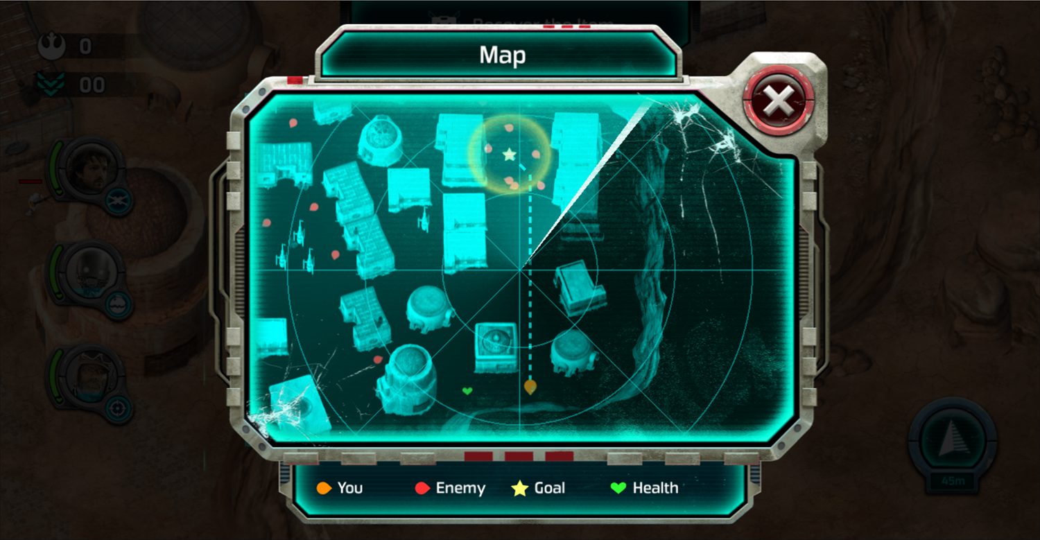 Star Wars Rogue One Boots on the Ground Map Screenshot.