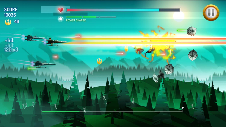 Star Wars X Wing Fighter Game Screenshot.