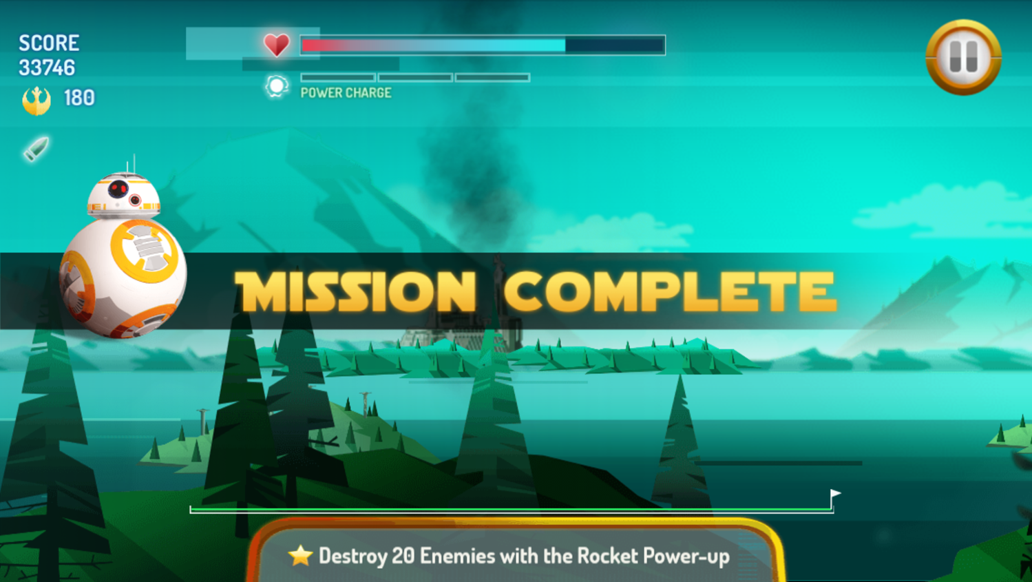 Star Wars X Wing Fighter Mission Complete Screenshot.