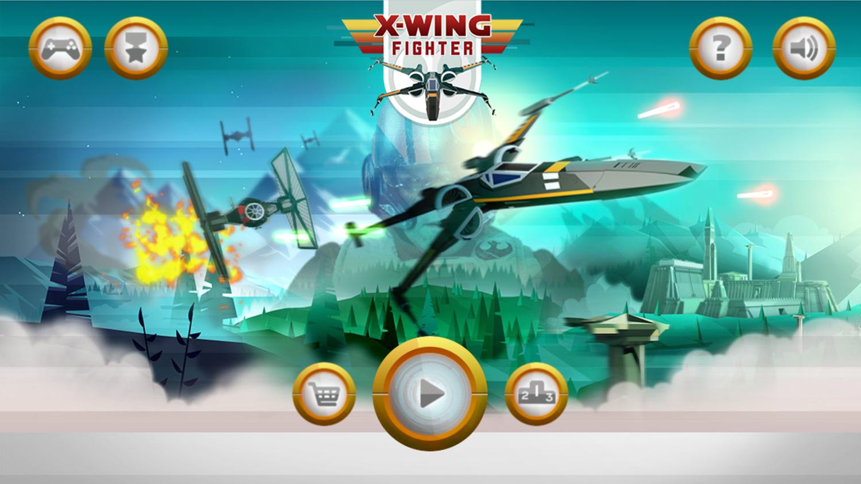 Star Wars X Wing Fighter Welcome Screen Screenshot.