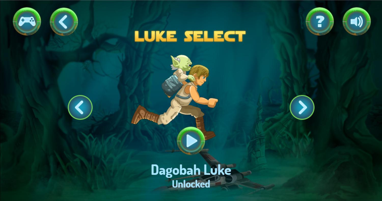 Star Wars Yoda's Jedi Training Character Select Screenshot.