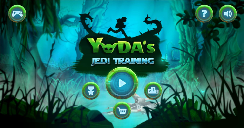 Star Wars Yoda's Jedi Training Welcome Screen Screenshot.