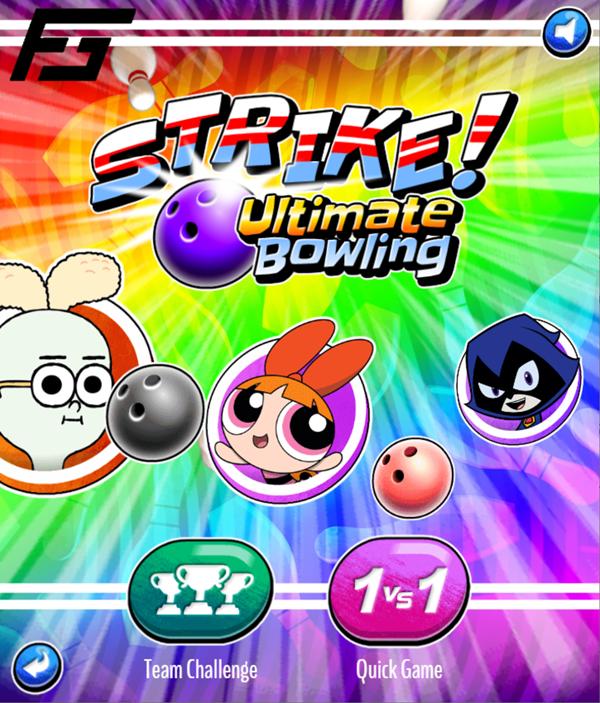 Strike Ultimate Bowling Welcome Screen Screenshot.