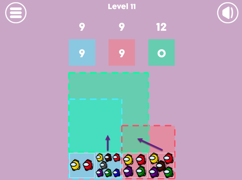 Sum Among Us Game Screenshot.