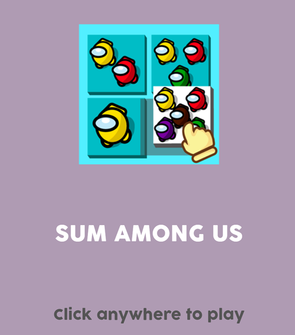 Sum Among Us Welcome Screen Screenshots.