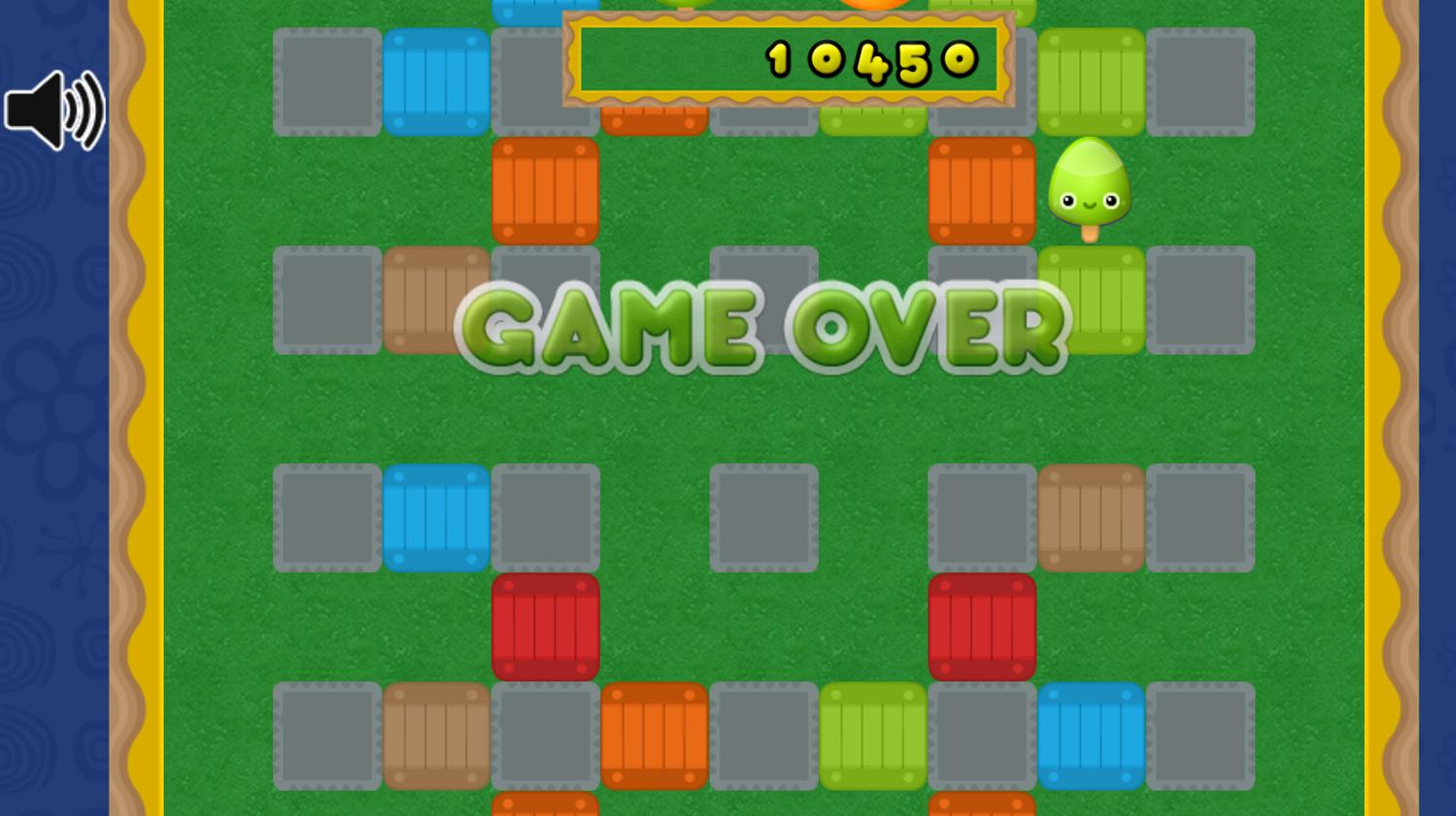 Super Balloon Bomb Game Over Screenshot.