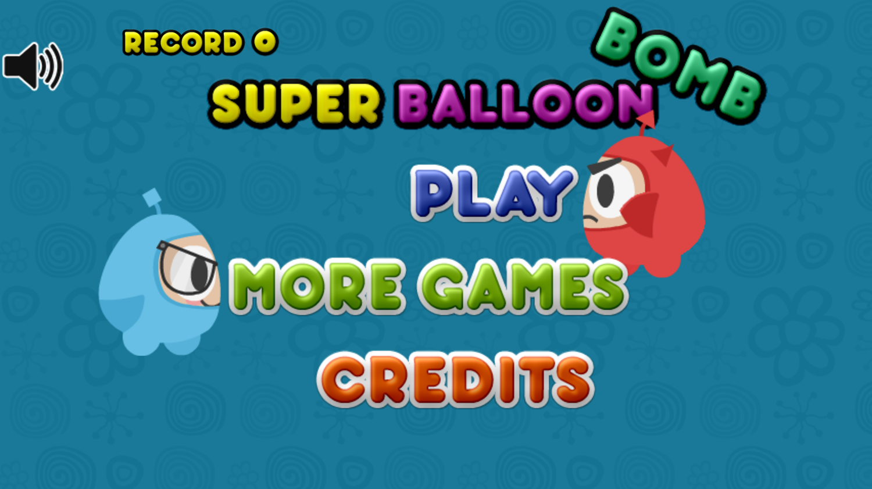 Super Balloon Bomb Welcome Screen Screenshot.