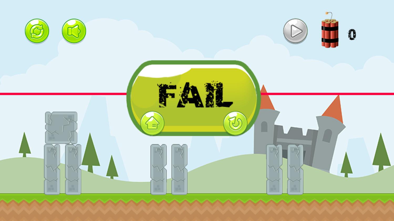 Super Destroyer Level Fail Screenshot.