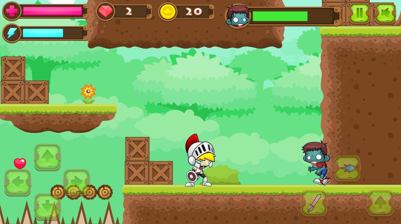 Super Knight Adventure Boss Battle Screenshot.