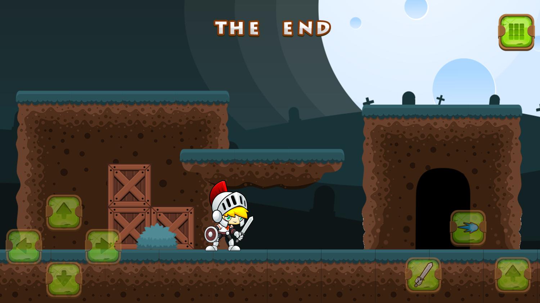 Super Knight Adventure Game End Screenshot.