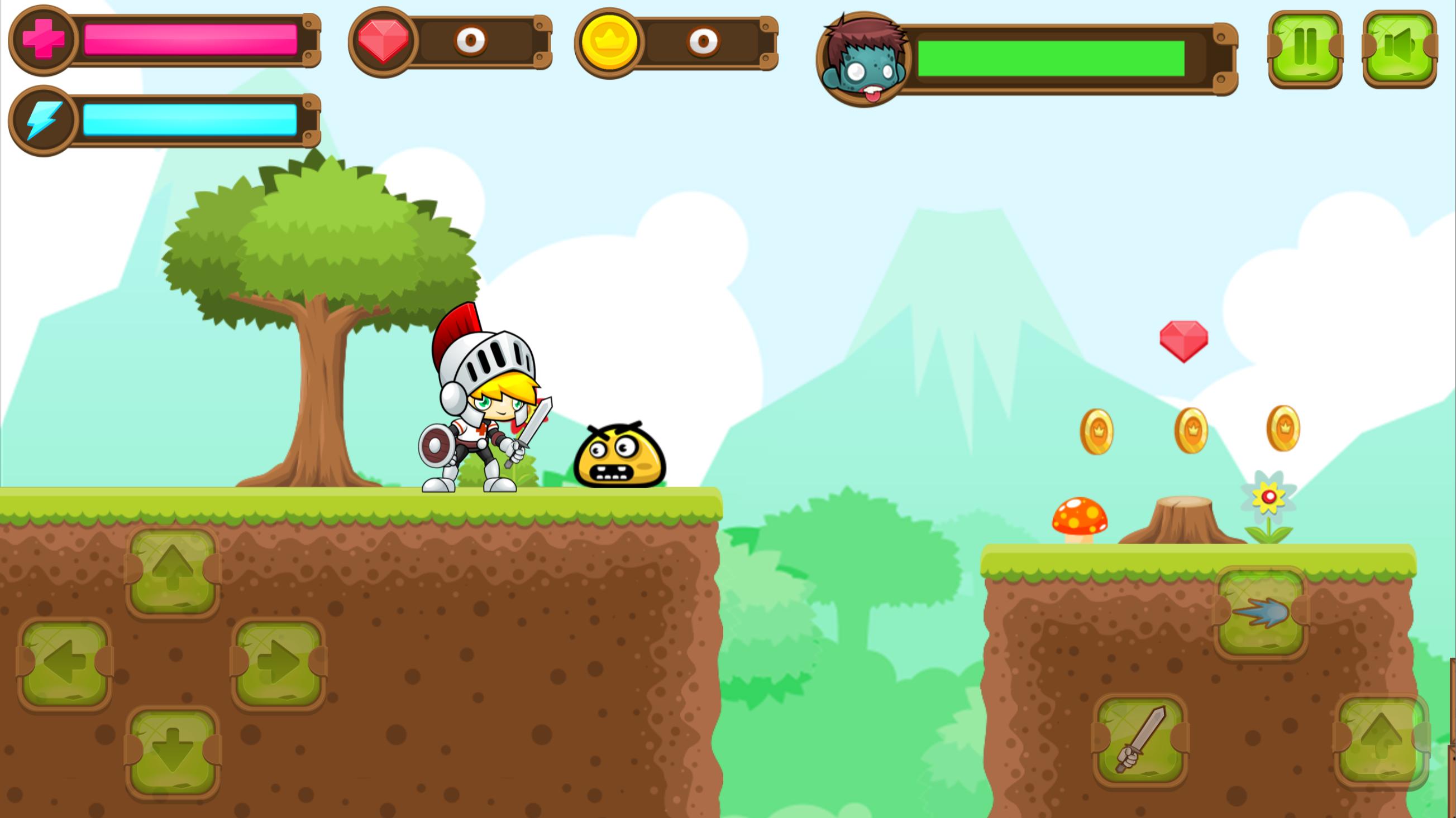 Super Knight Adventure Game Screenshot.