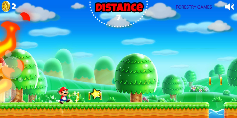 Super Mario Rush Game Play Screenshot.