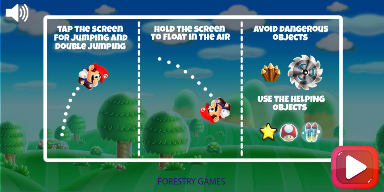 Super Mario Rush Game How To Play Screenshot.