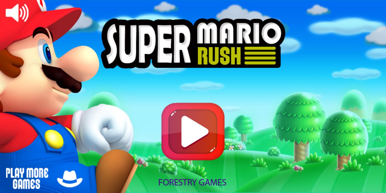 Super Mario Rush Game Welcome Screen Screenshot.