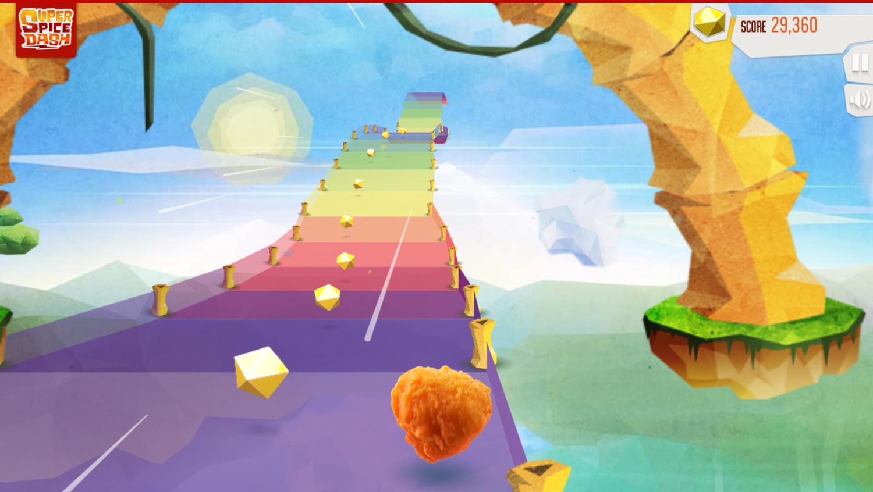 Super Spice Dash Game Bonus Stage Screenshot.