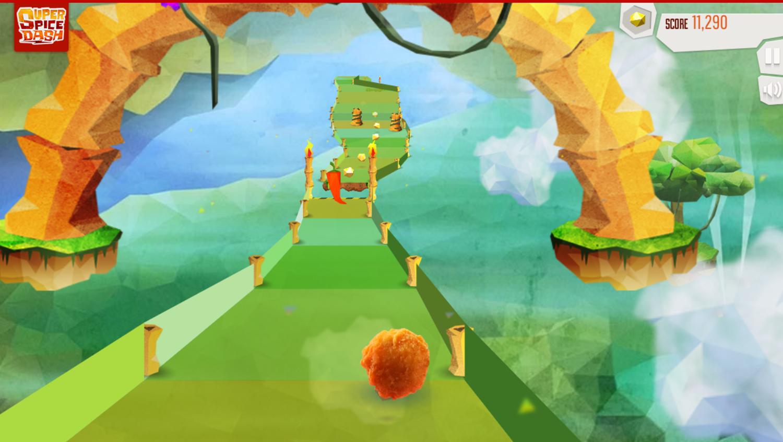 Super Spice Dash Game Play Screenshot.